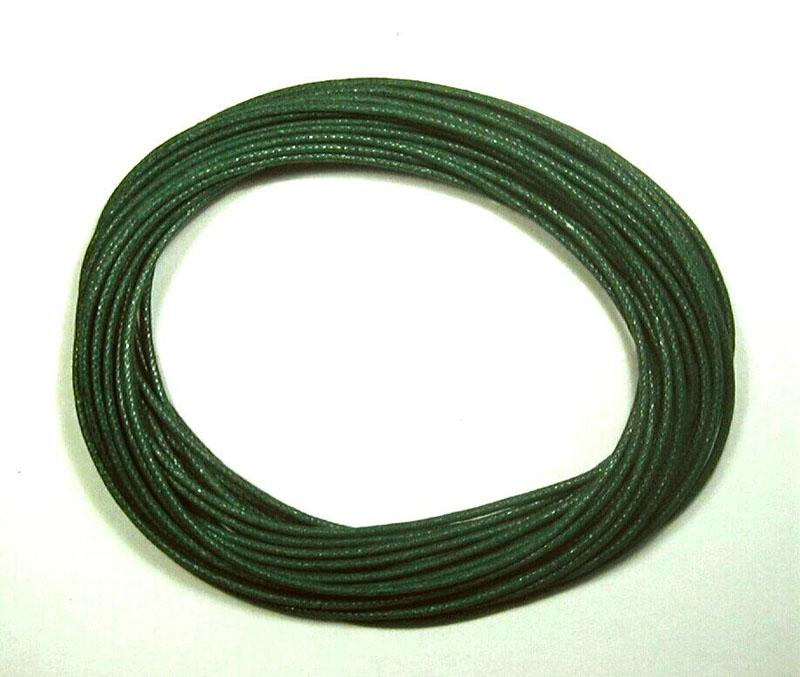 Waxed Cotton Cord 1mm - Forest Green