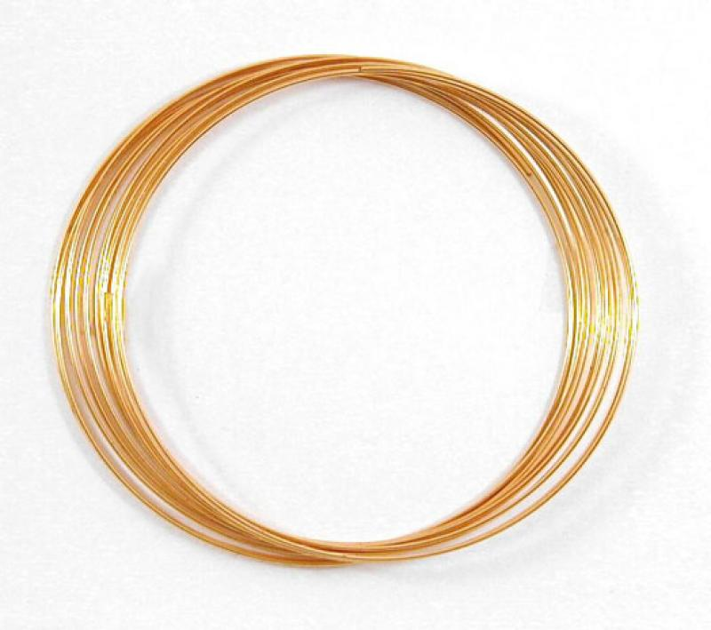 0.6mm Gold Plated Bracelet Memory Wire