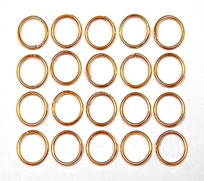 8mm Gold Plated Jump Ring