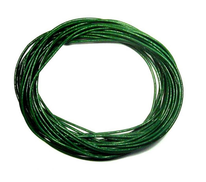 Emerald Green 1mm Round Leather Cord