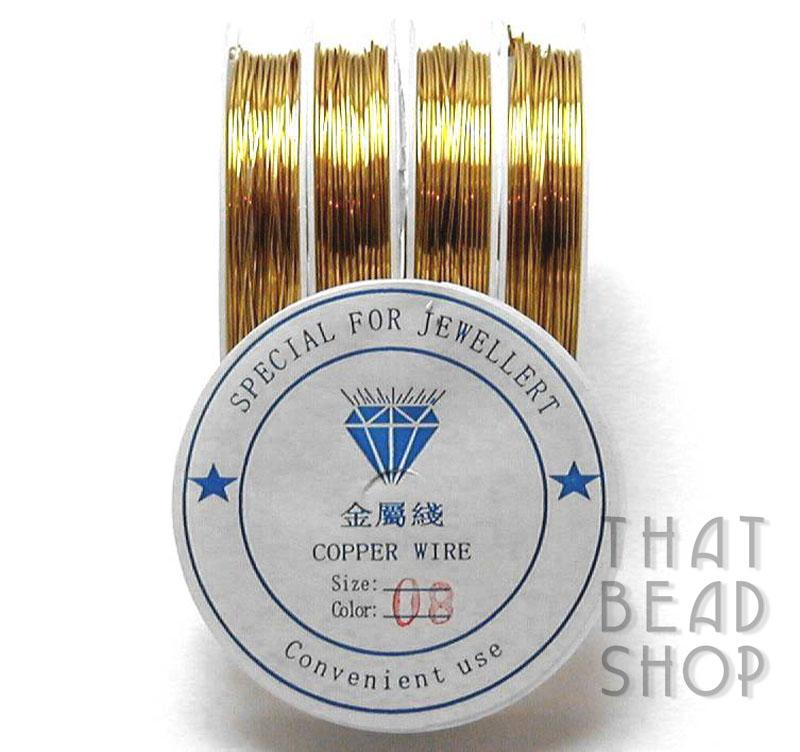 Gold Colour Coated Craft Wire 0.8mm