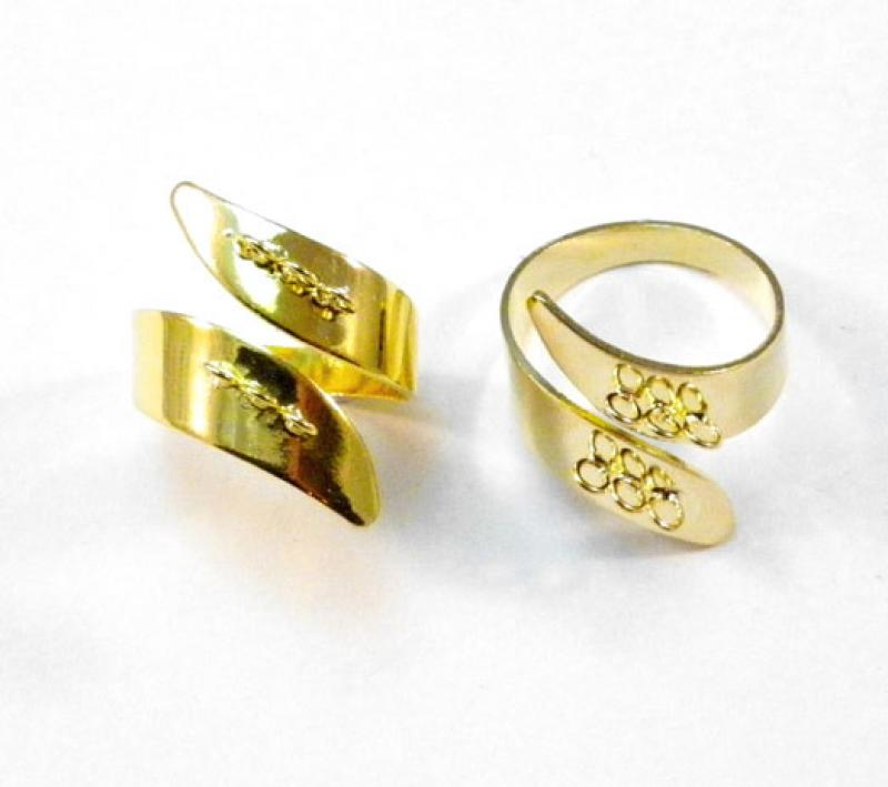 Ring Shank - Gold Plated Modern Style