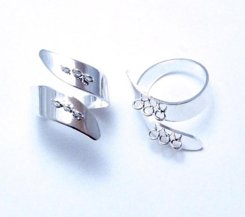 Ring Shank - Silver Plated Modern Style