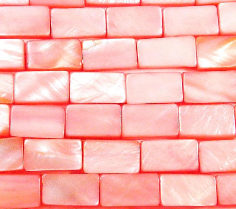 Pink MOP Shell Rectangle