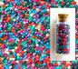 Satin Opaque Matte Mixed Size 11-0 Seed Beads