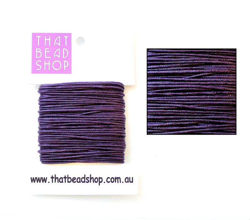 1mm Waxed Cotton Cord - Aubergine
