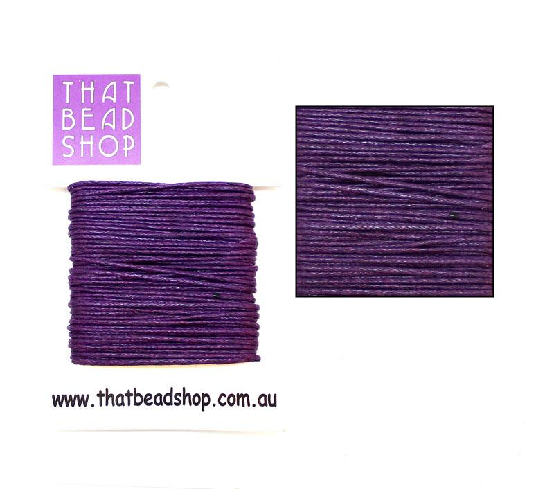 1mm Waxed Cotton Cord - Regal Purple