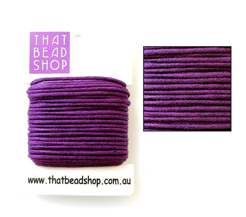 2mm Waxed Cotton Cord - Regal Purple