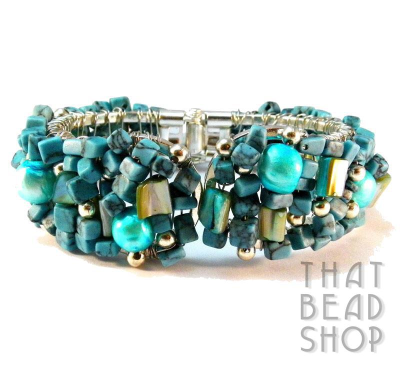 Turquoise Cleopatra Wire Wrapped Cuff