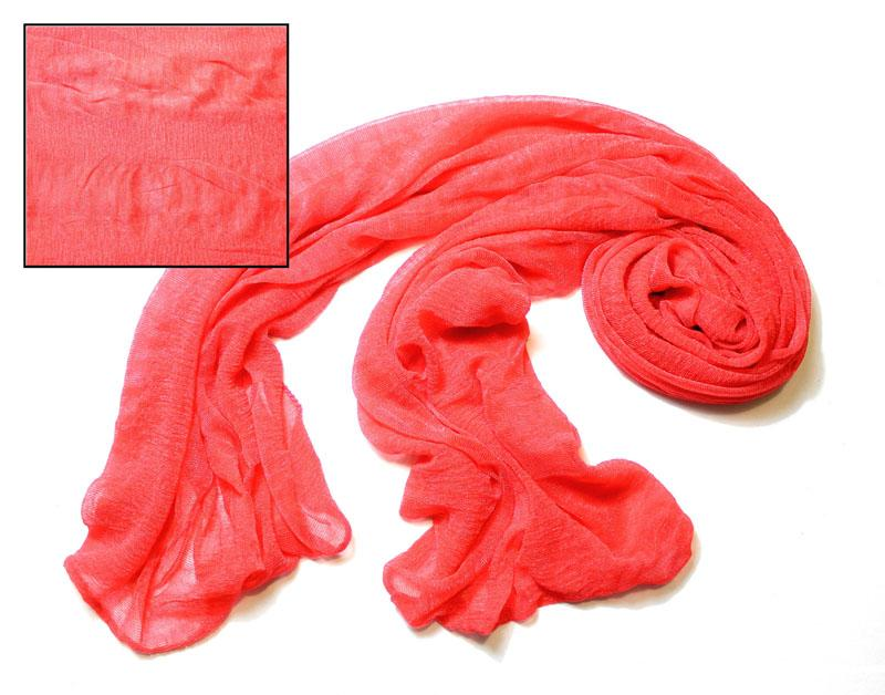 Coral Silky Knit Scarf