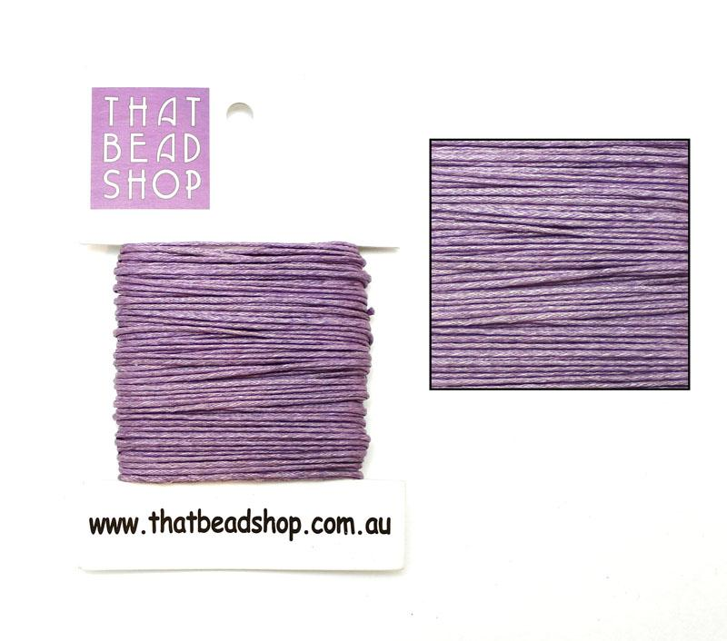 1mm Waxed Cotton Cord - Lavender