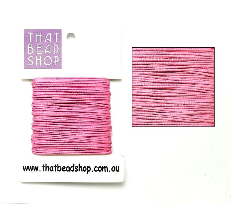 1mm Waxed Cotton Cord - Pink