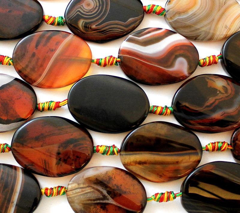 Red Brown Agate Oval