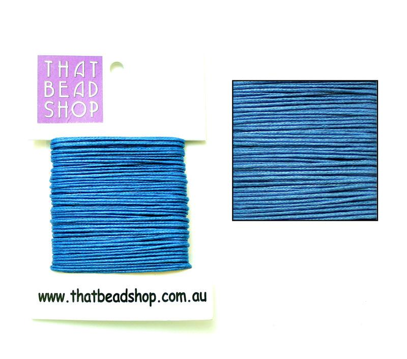 1mm Waxed Cotton Cord - Sapphire
