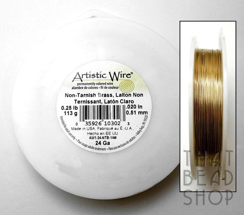 24 gauge Brass Gold - Artistic Wire Non-Tarnish - Large Roll