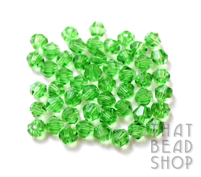 4mm Green Crystal Bicone