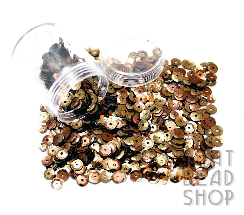 Brown 6mm Cupped Sequins