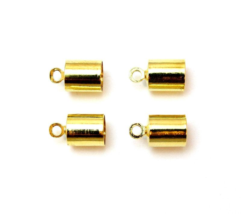 Gold Plated 6mm Cord End Cap