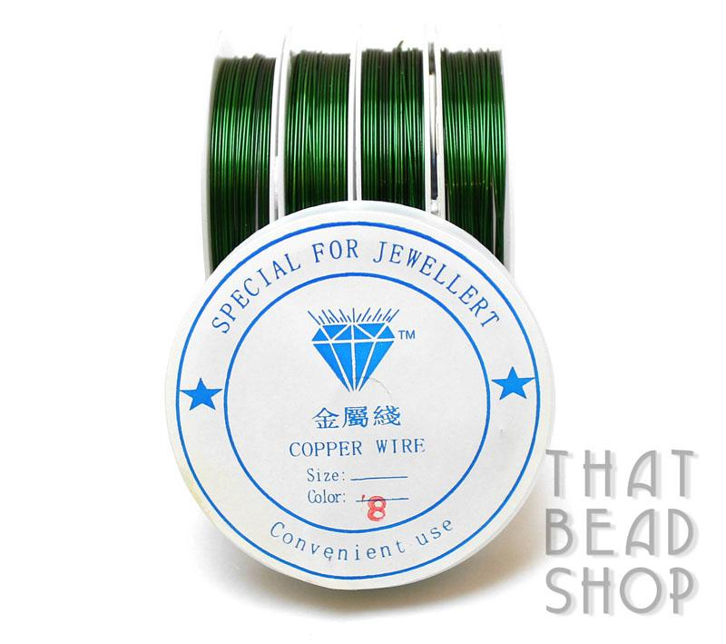 Green Colour Coated Craft Wire 0.8mm
