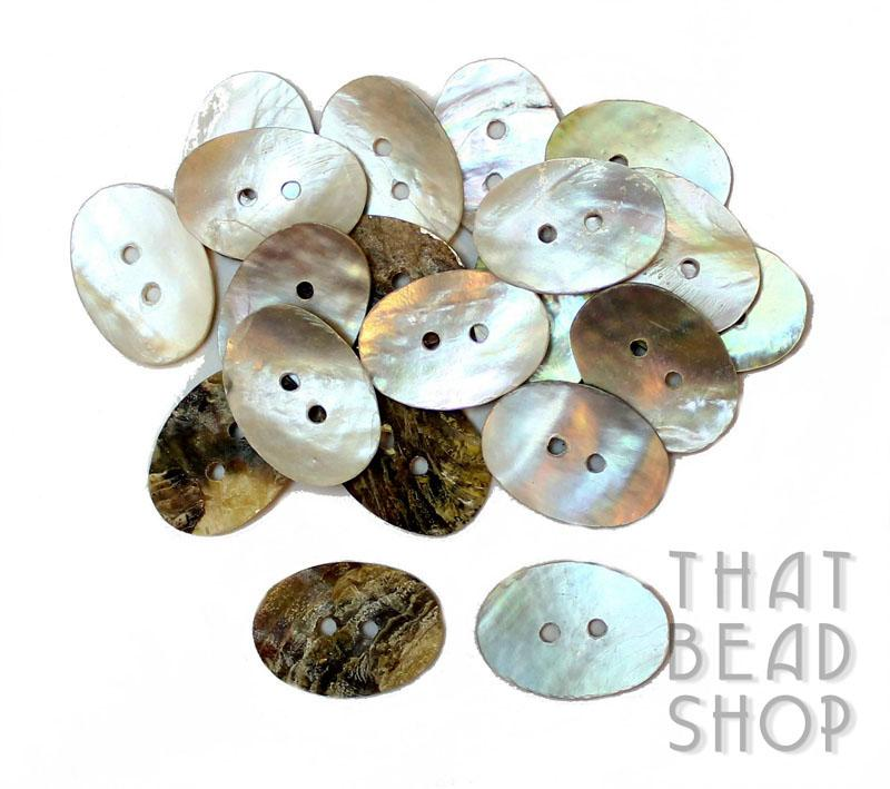 Oval MOP Shell Button