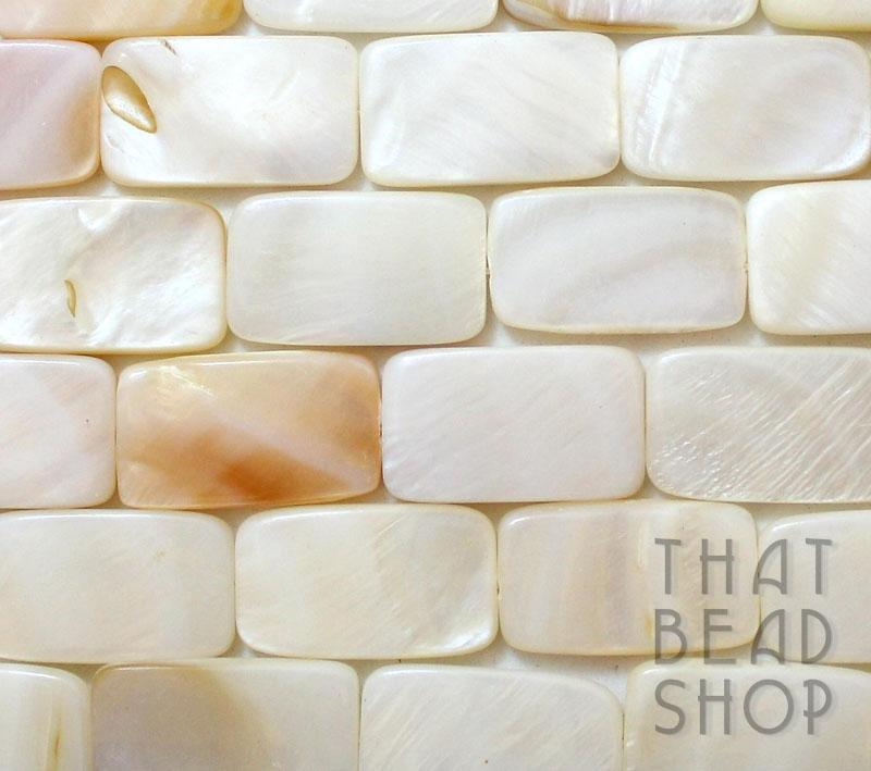 White-Natural Large Shell Rectangle