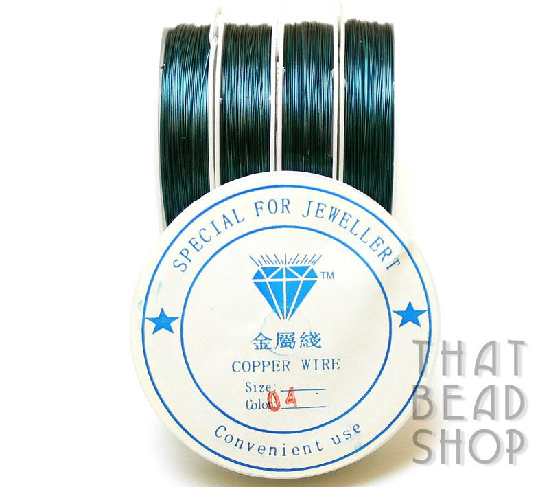 Teal Colour Coated Craft Wire 0.4mm