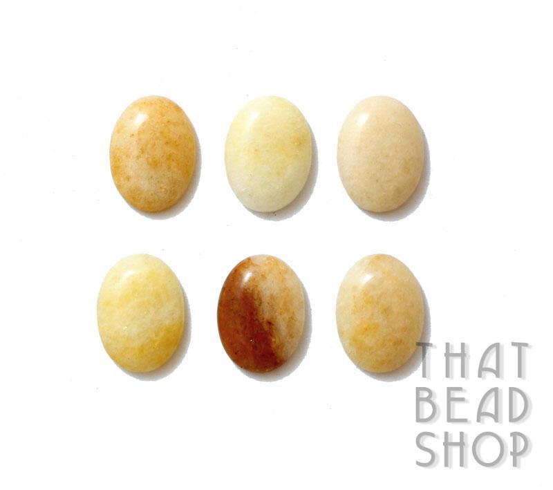 Yellow Aventurine Oval Cabochon - Small