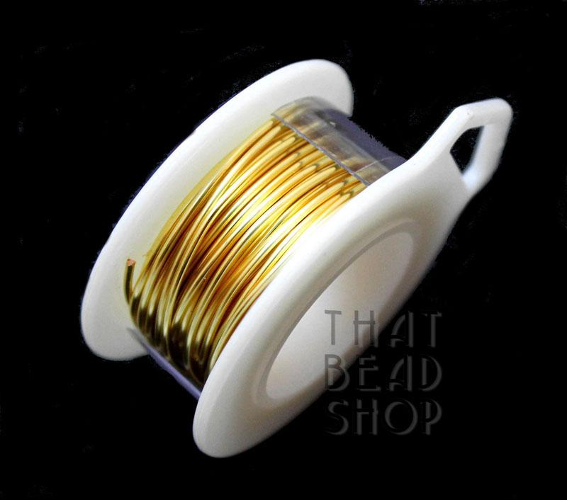 18 Gauge Gold Non Tarnish Round Premium Craft Wire